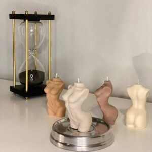 Skinny torso soy candle