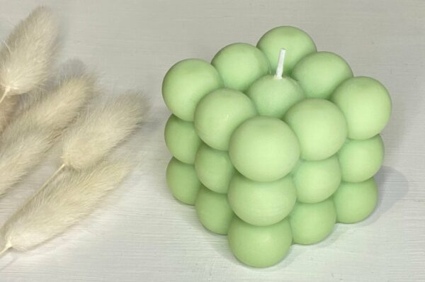 big bubbles green soy candle